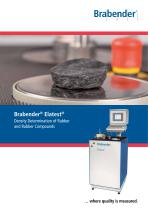 Elatest: Density determination of rubber and rubber compounds