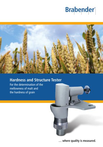 Hardness and Structure Tester for testing malt mellowness and grain hardness
