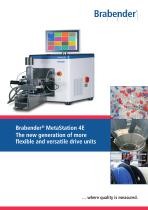 MetaStation 4E: Table-top Torque Rheometer for mixer and extruder attachments