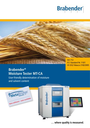 MT-CA: Drying oven for moisture determination