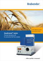 Quadrumat Junior: Precision laboratory mill for production-like flour samples