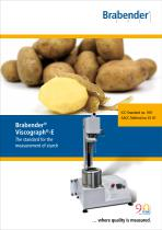 Viscograph-E: The standard for the measurement of starch