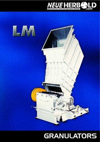 NEUE HERBOLD - Granulators - Cutting Mills LM Series