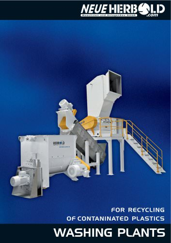 NEUE HERBOLD - Washinglines for recycling of conterminated plastics