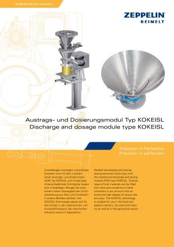 Discharge and dosage module type KOKEISL