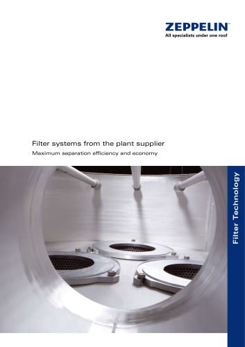 Filter systems from the plant supplier