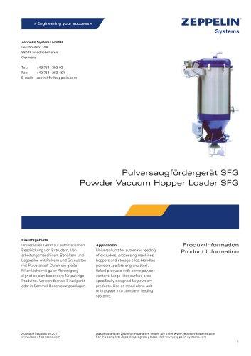 Powder Vacuum Hopper Loader Type SFG