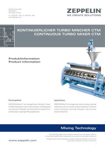 Zeppelin Continuous Turbo Mixer CTM