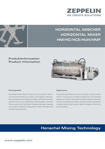 Zeppelin Horizontal Mixer HM HC HCE HUH HMF