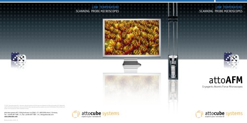 attoAFM, Cryogenic Atomic Force Microscopes