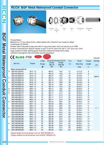 BGF Metal Waterproof Conduit Connector
