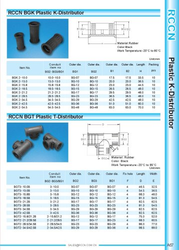 BGK Plastic K-Distributor