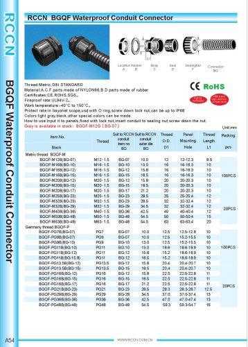 BGQF Waterproof Conduit Connector