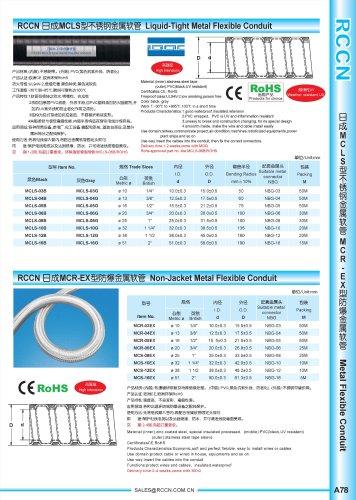 Liquid-Tight Metal Flexible Conduit