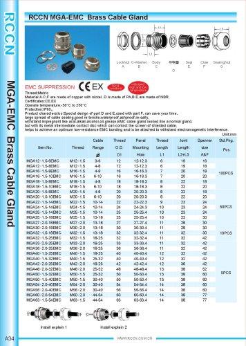 MGA-EMC Brass Cable Gland