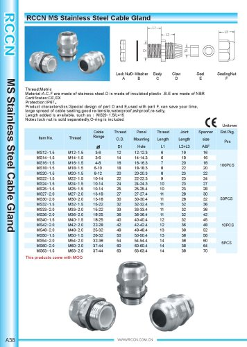 MS Stainless Steel Cable Gland