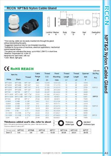 NPT&G Nylon Cable Gland