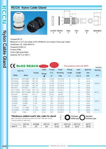 Nylon Cable Gland page A18