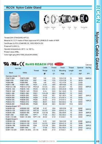 Nylon Cable Gland page A9