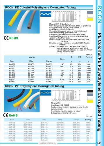 PE Colorful Polyethylene Corrugated Tubing
