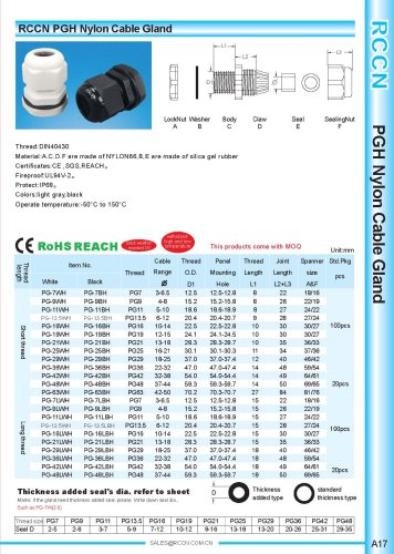 PGH Nylon Cable Gland