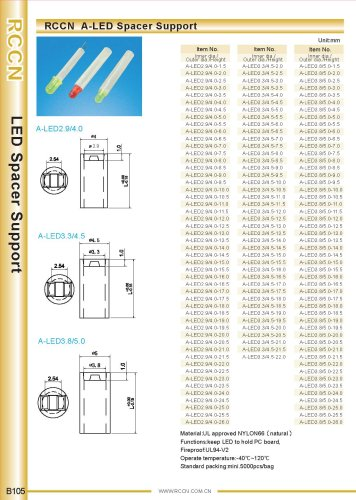 RCCN  A-LED Spacer Support