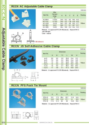 RCCN  AC Adjustable Cable Clamp