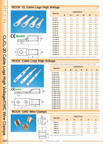 RCCN  CL Cable Lugs High Voltage