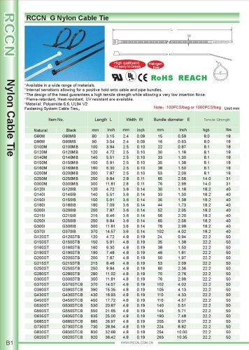 RCCN  G Nylon Cable Tie B1