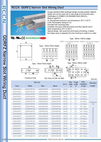 RCCN  GDRFZ Narrow Slot Wiring Duct 45