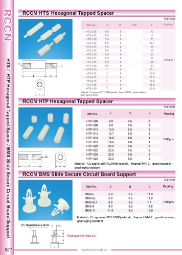 RCCN HTS Hexagonal Tapped Spacer