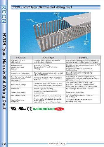 RCCN  HVDR Type  Narrow Slot Wiring Duct C21