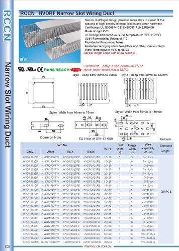 RCCN   HVDRF Narrow Slot Wiring Duct
