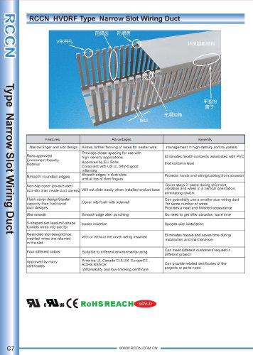 RCCN  HVDRF Type  Narrow Slot Wiring Duct C7