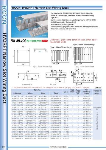 RCCN  HVDRFT Narrow Slot Wiring Duct