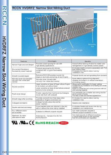 RCCN  HVDRFZ  Narrow Slot Wiring Duct C43