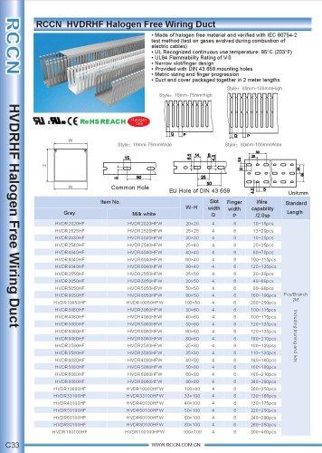 RCCN  HVDRHF Halogen Free Wiring Duct