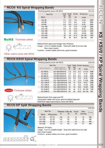 RCCN  KS spiral wrapping bands / KVS0 spiral wrapping bands / KP Split wrapping bands B29