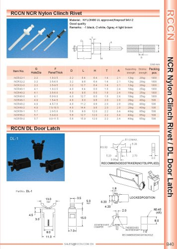 RCCN NCR Nylon Clinch Rivet