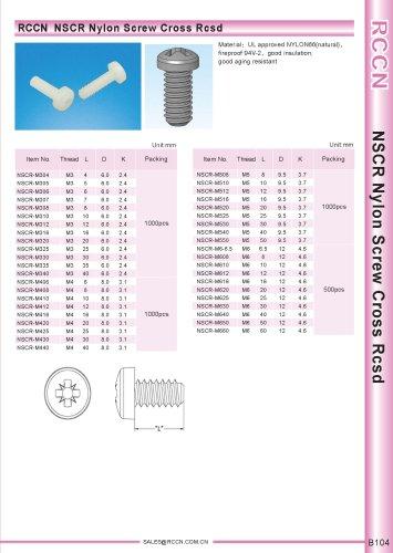 RCCN  NSCR Nylon Screw Cross Rcsd