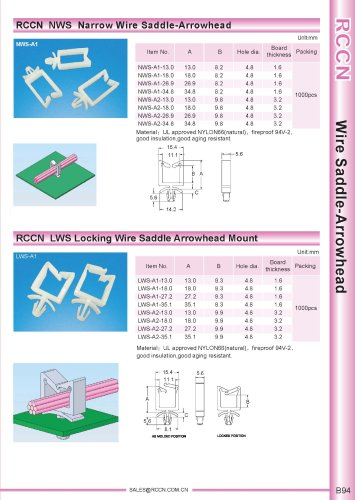 RCCN  NWS  Narrow Wire Saddle-Arrowhead