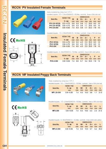 RCCN  PV Insulated Female Terminals