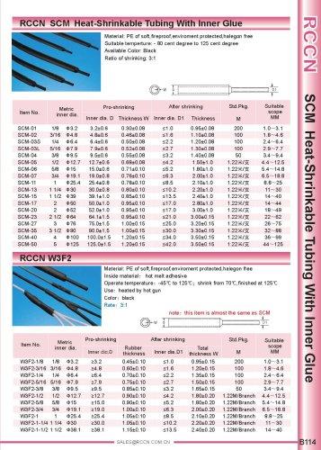 RCCN  SCM  Heat-Shrinkable Tubing With Inner Glue