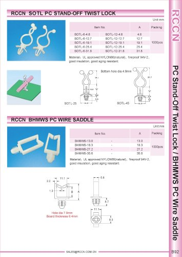 RCCN  SOTL PC STAND-OFF TWIST LOCK