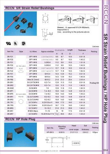 RCCN  SR Strain Relief Bushings / HP Hole Plug B64