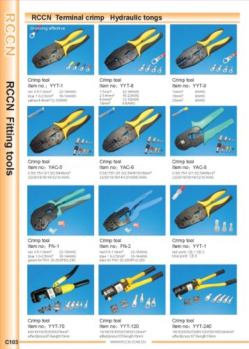 RCCN  Terminal crimp   Hydraulic tongs