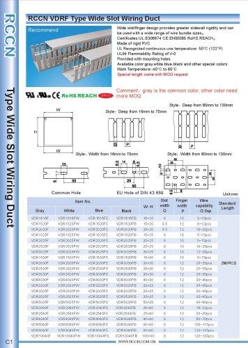 RCCN VDRF Type Wide Slot Wiring Duct C1