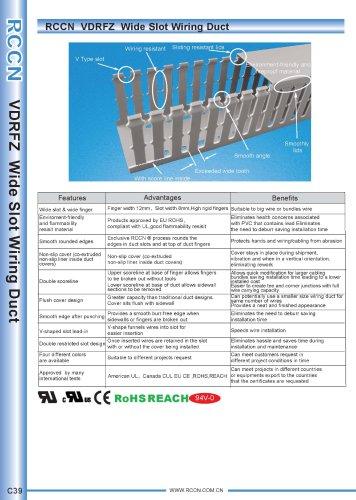 RCCN  VDRFZ  Wide Slot Wiring Duct C39