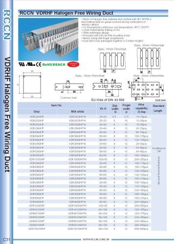 RCCN  VDRHF Halogen Free Wiring Duct C31