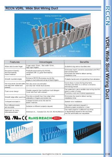 RCCN VDRL  Wide Slot Wiring Duct